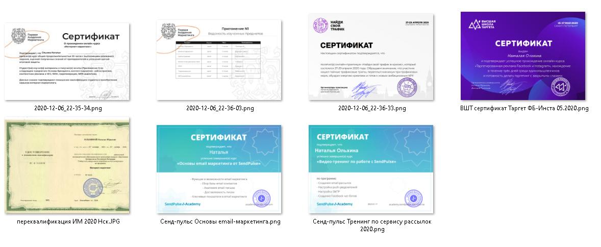 Итоги года — сертификаты